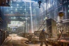铸件铁合金工厂 免版税库存照片