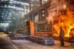 铸件铁合金工厂 库存图片