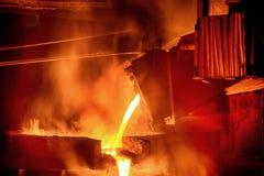 铸件铁合金工厂 库存照片
