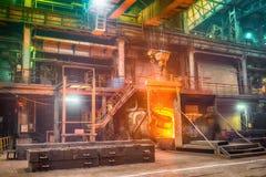 铸件铁合金工厂 图库摄影