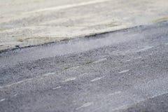 铺与钢路辗的沥青 免版税库存照片