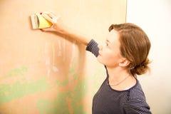 铺沙的墙壁 免版税库存照片