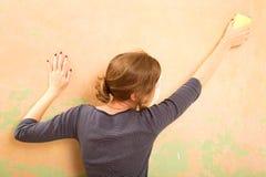 铺沙的墙壁 免版税库存图片