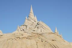 铺沙雕塑 库存图片