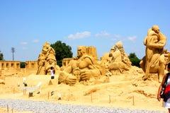 铺沙雕塑 图库摄影