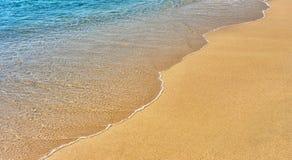 铺沙水 免版税库存图片