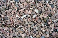 铺石渣石头大理石和背景的花岗岩在阳光下理想 免版税库存照片