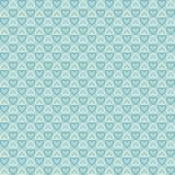 铺磁砖与心脏的葡萄酒无缝的样式 抽象减速火箭的装饰品由简单的几何形状做成 向量例证