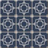 铺磁砖圆的发怒几何patternVintage无缝的墙壁瓦片,摩洛哥人,葡萄牙语 205_round十字架几何 免版税图库摄影