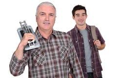 铺磁砖工和培训对象 免版税图库摄影