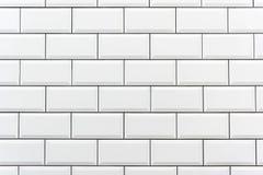 铺磁砖的墙壁白色 库存图片