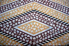 铺磁砖的大理石地板样式 免版税库存图片