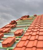 铺磁砖的屋顶 免版税图库摄影