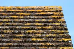 铺磁砖的屋顶 库存图片