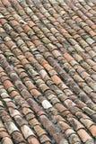 铺磁砖的屋顶 库存照片