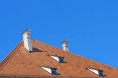 铺磁砖的屋顶 图库摄影
