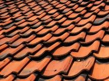 铺磁砖的屋顶 免版税库存图片