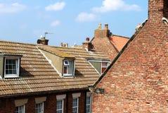 铺磁砖的房子屋顶 图库摄影