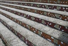 铺磁砖的教会步骤 免版税库存图片