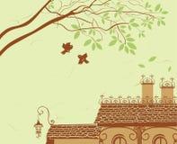 铺磁砖的横向屋顶 免版税库存图片