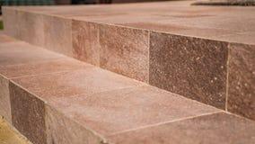 铺磁砖的步,石头 免版税库存图片