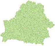 铺磁砖的比拉罗斯绿色映射 免版税库存照片