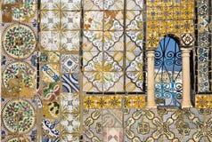 铺磁砖的装饰品 库存图片