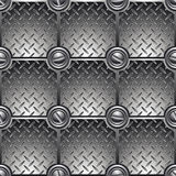铺磁砖的金属背景。 图库摄影