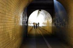 铺磁砖的隧道 免版税库存图片