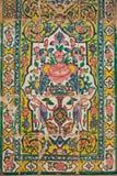 铺磁砖盘区, medrese的可汗,设拉子,伊朗 免版税库存图片