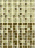 铺磁砖马赛克正方形装饰有闪烁金黄纹理背景 免版税库存照片