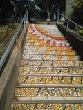 铺磁砖马赛克Moraga街台阶,旧金山, 1 免版税库存图片