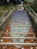 铺磁砖马赛克Moraga街台阶,旧金山, 3 免版税图库摄影