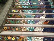 铺磁砖马赛克Moraga街台阶,旧金山, 6 库存图片