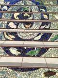 铺磁砖马赛克Moraga街台阶,旧金山, 12 免版税图库摄影