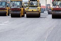 铺路的重的蒸汽路辗 免版税图库摄影