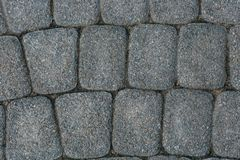 铺路石石工纹理,关闭,顶视图 外部楼面料 路面背景 图库摄影