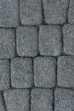 铺路石石工纹理,关闭,顶视图 外部楼面料 路面背景 免版税图库摄影
