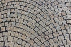 铺路石被铺的路  免版税库存图片