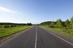 铺高速公路的沥青 库存图片