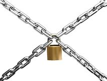 链交叉锁定 库存照片