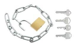 链关键字挂锁 免版税库存图片