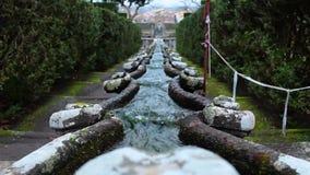 链别墅Lante Bagnaia意大利的喷泉 股票视频