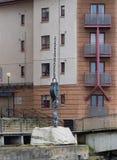 链和卷扬机艾尔港口 图库摄影
