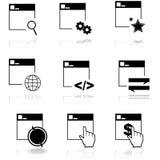 链图标锁定万维网 免版税库存图片