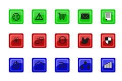 链图标锁定万维网 免版税图库摄影