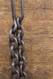 链子和墙壁 免版税库存照片