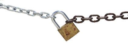 链子和挂锁 免版税库存照片