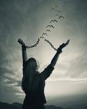 链子和自由 免版税图库摄影