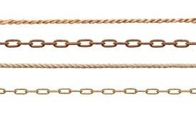 链子和绳索 免版税库存图片